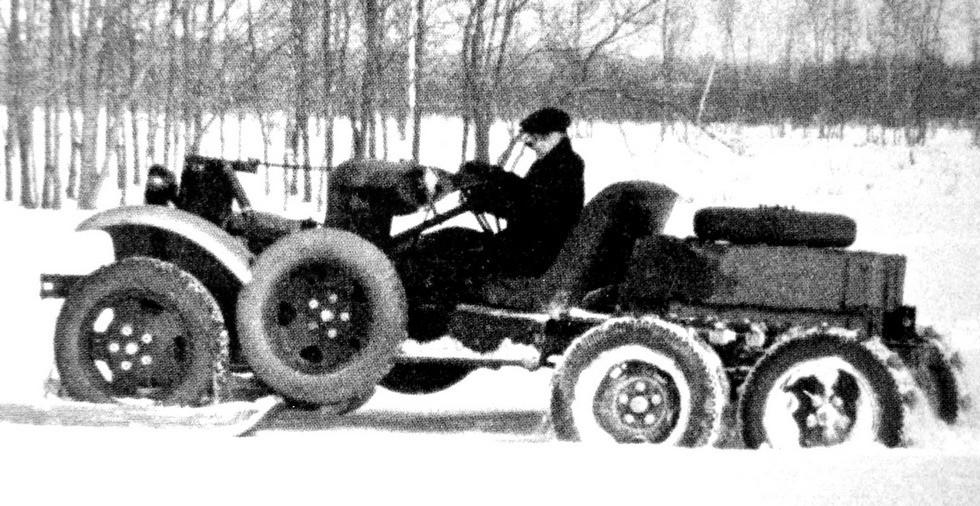 Специальное укороченное шасси ГАЗ-07 для бронеавтомобилей серии БА-10