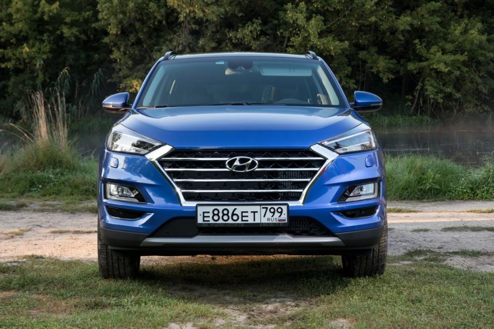 Hyundai_Tucson синий спереди