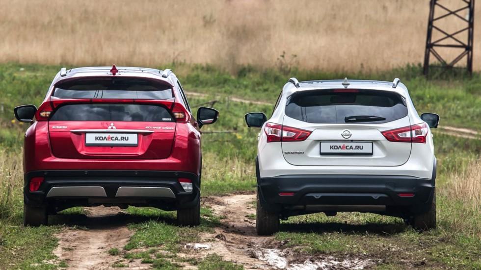 Два и полтора: сравнительный тест Mitsubishi Eclipse Cross и Nissan Qashqai