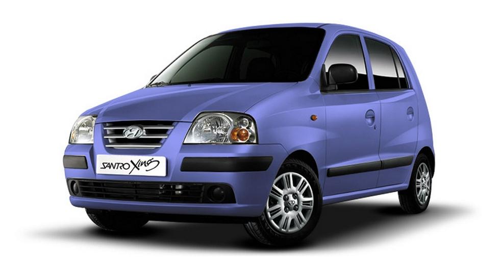 На фото: Hyundai Santro'2003