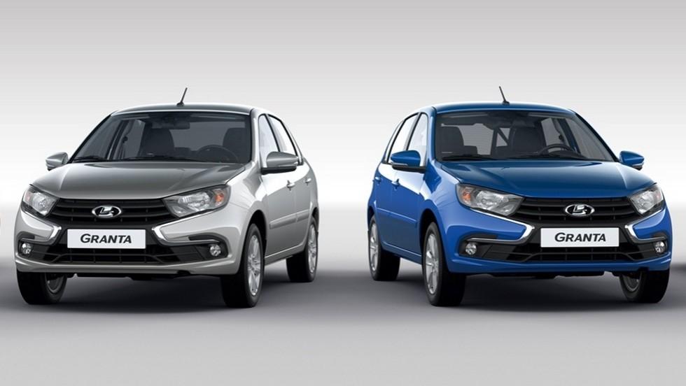 Обновленная Lada Granta (слева - седан, справа - хэтчбек)