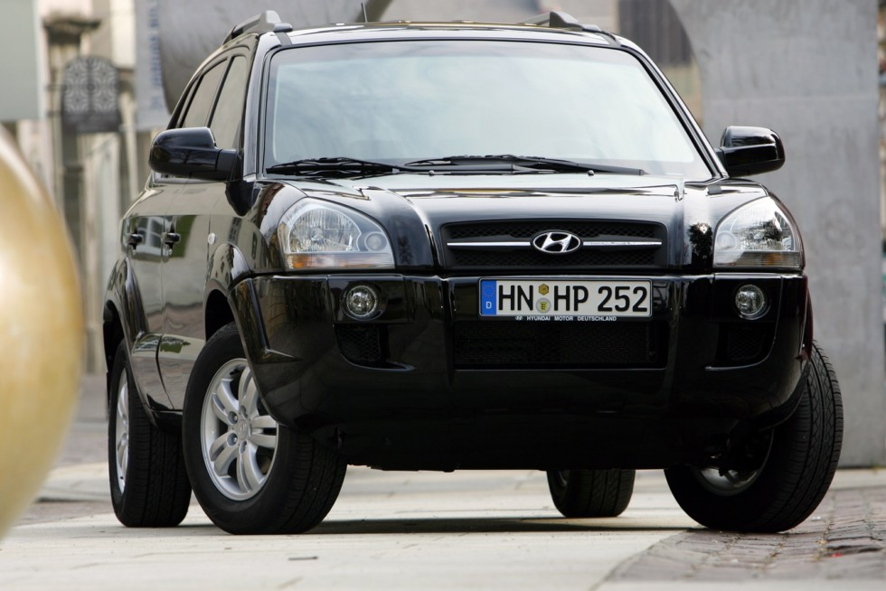 Hyundai Tucson Worldwide '2004–09 спереди