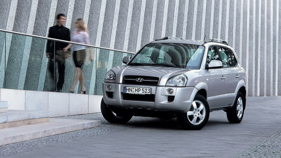 Hyundai Tucson Worldwide '2004–09 три четверти