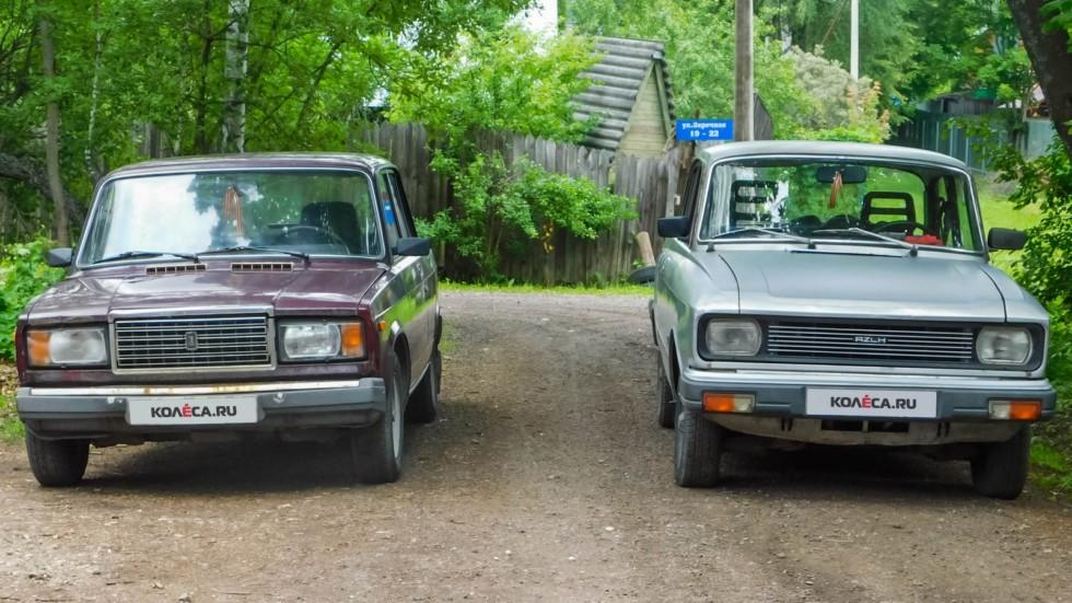 Москвич-2140 и ВАЗ-2107 (3)