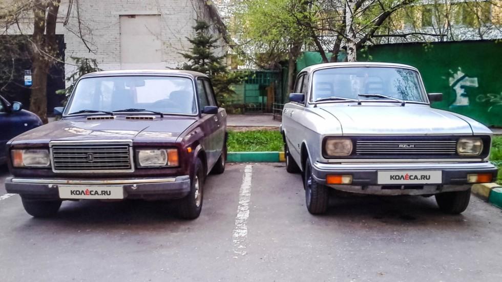Москвич-2140 и ВАЗ-2107 (5)