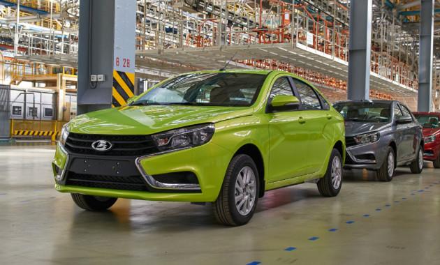 Темпы производства легковых автомобилей в России немного замедлились
