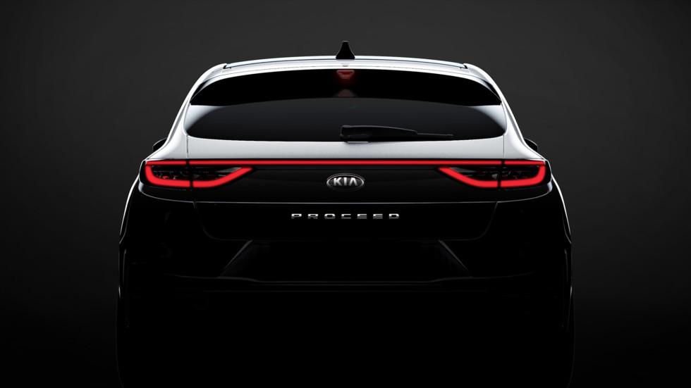 Официальный тизер нового Kia ProCeed