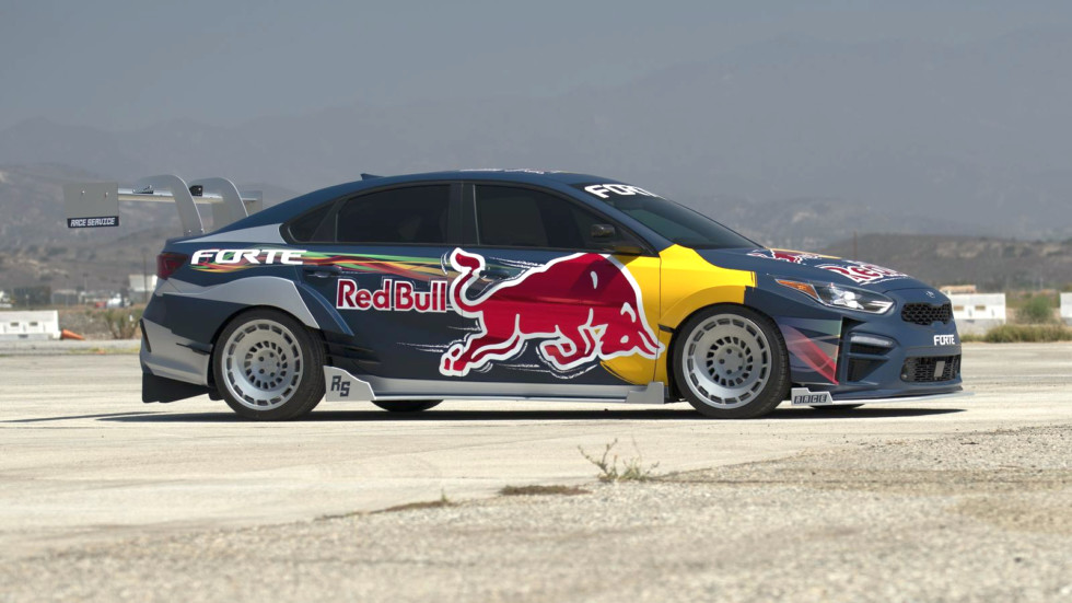 Kia Forte Red Bull Drift Car
