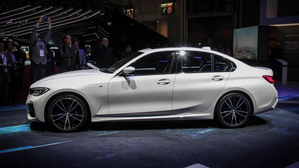 BMW 3 серии белая сбоку