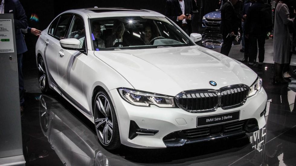 BMW 3 серии белая спереди (3)