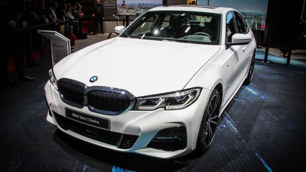 BMW 3 серии белая три четверти