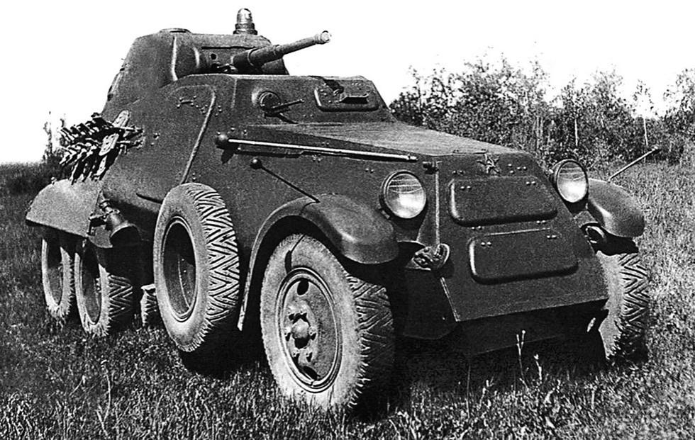 Бронемашина БА-11 с 45-мм пушкой на специальном шасси ЗИС-34