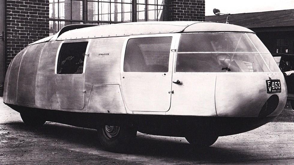 Первый образец трехколесного шестиметрового транспортного средства Dymaxion