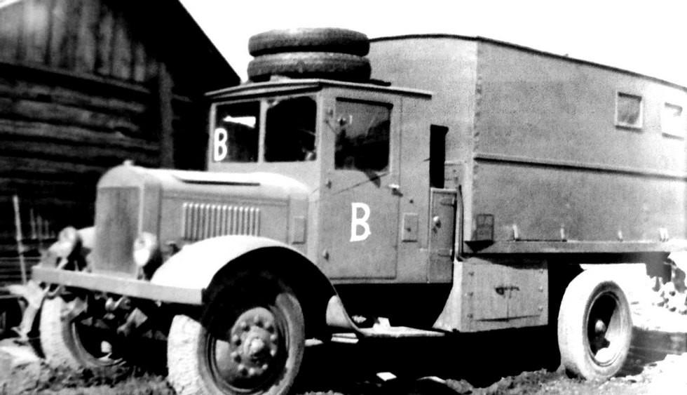 Ремонтная мастерская в фургоне на грузовике ЯГ-6