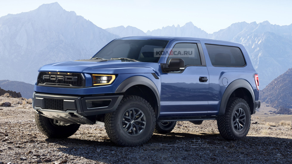 New Ford Bronco, make Kolesa.ru.