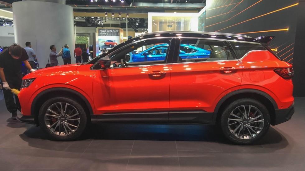 Geely SX11 оранжевый сбоку