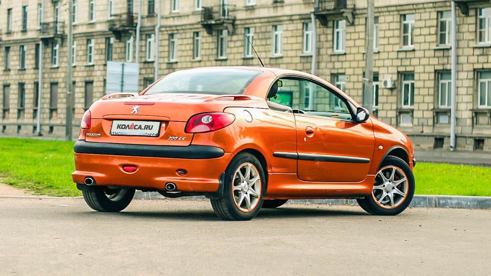 Peugeot 206 СС оранжевый сзади (3)