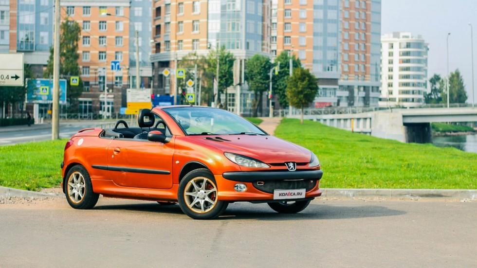 Peugeot 206 СС оранжевый три четверти (3)