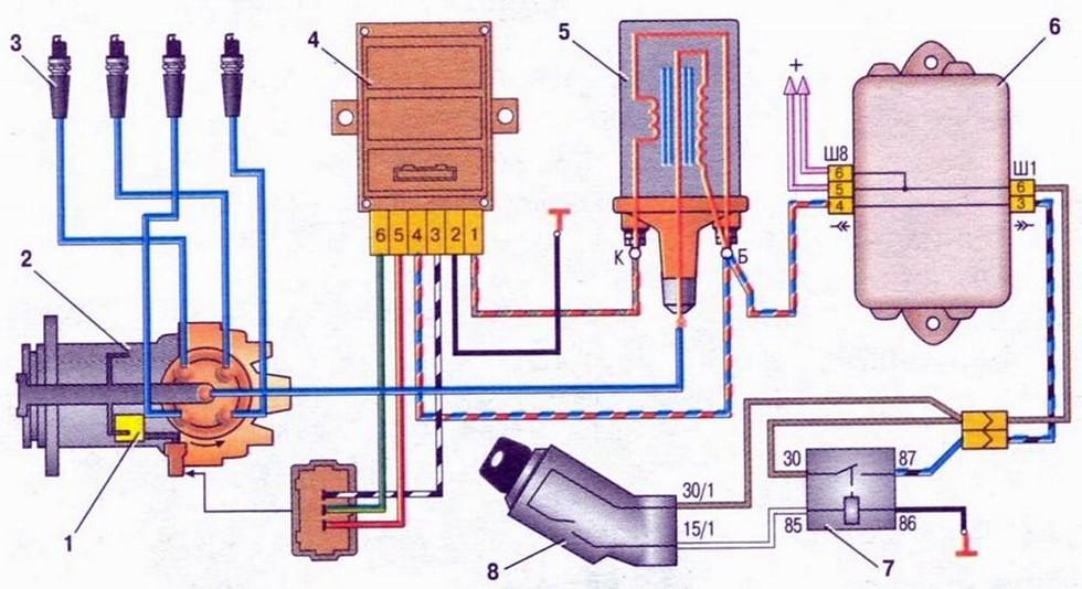 Бесконтактная система зажигания ВАЗ 2108