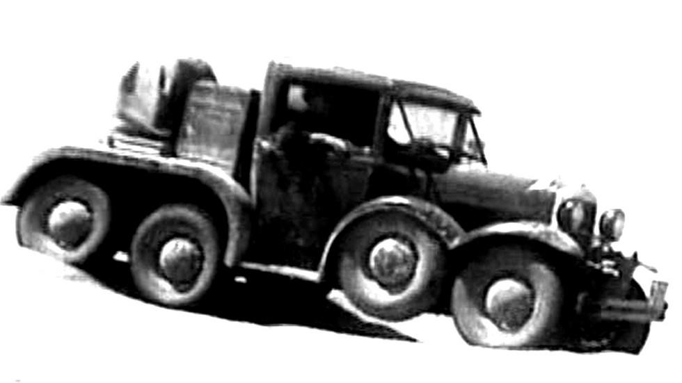 Пустынные испытания опытного автомобиля ГАЗ-АААА