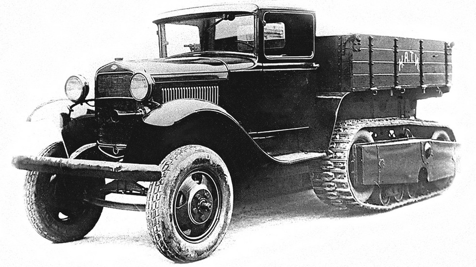 Многоцелевой полугусеничный вездеход НАТИ-3 на шасси ГАЗ-АА. 1933 год