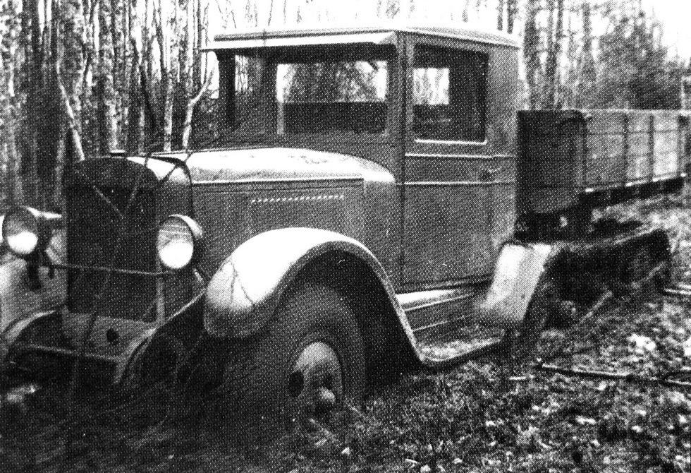 Испытания грузовика ЗИС-Сомуа на базе ЗИС-5. 1934 год (из коллекции А. Кириндаса)
