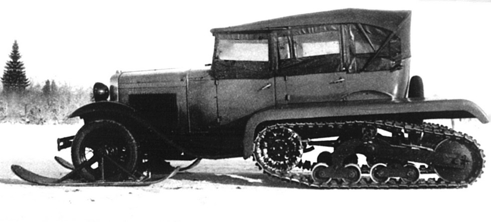 Опытный полугусеничный автомобиль ГАЗ-А-Кегресс на шасси ГАЗ-А. 1934 год