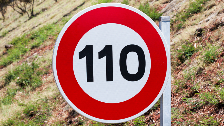Speed limit traffic sign