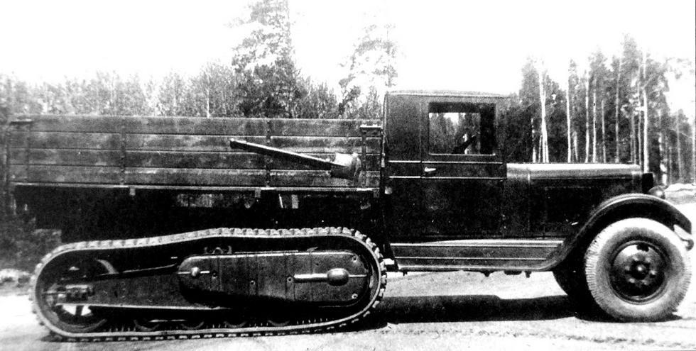 Опытный полугусеничный грузовик ЗИС-22М