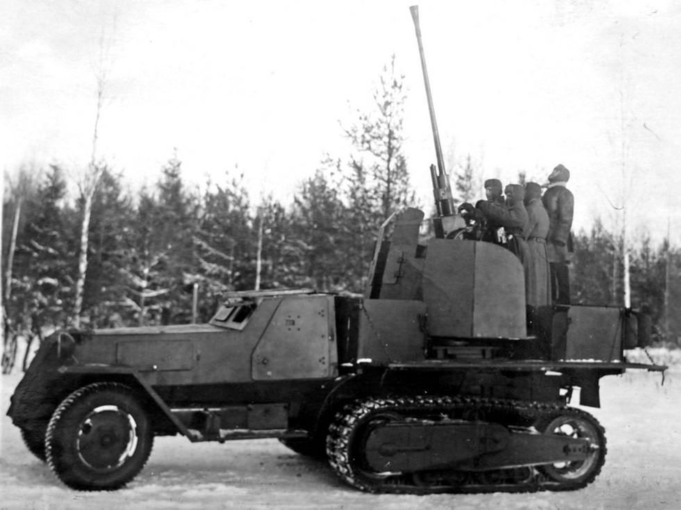 Полугусеничная 37-мм зенитная система ЗИС-43
