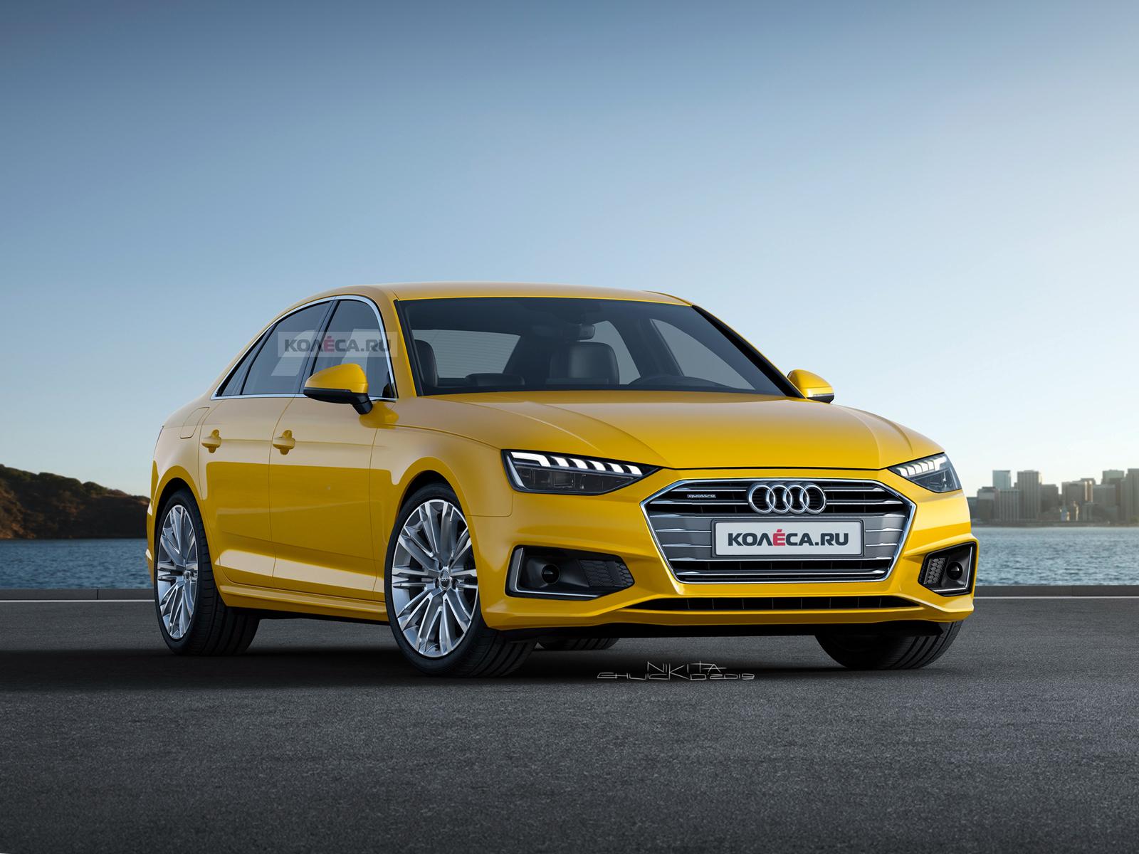 обновлённая Audi A4 B9 колесару