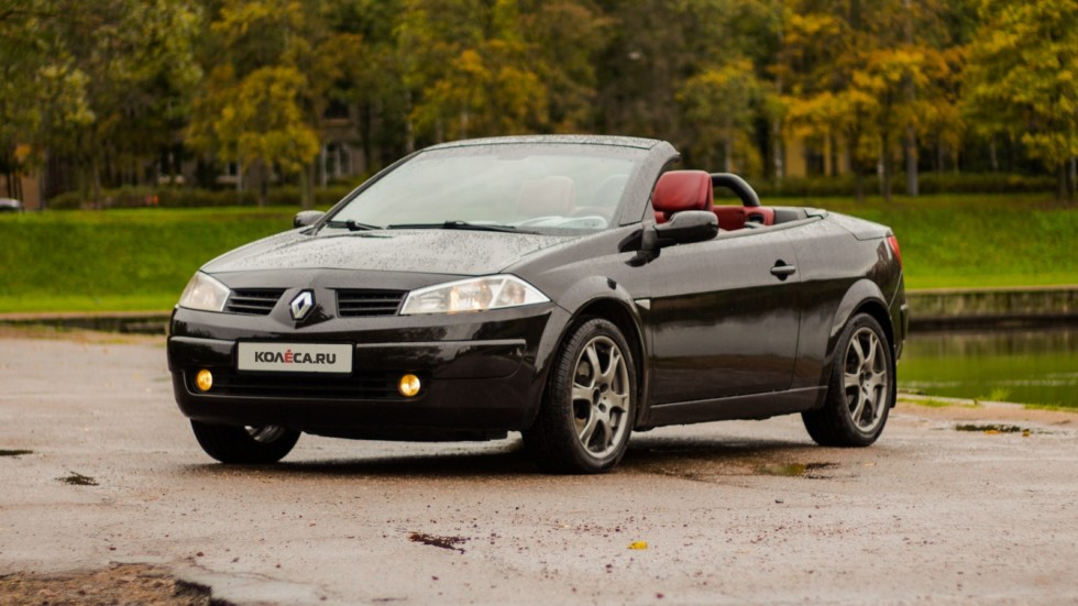 Renault-Megane-кабриолет три четвери