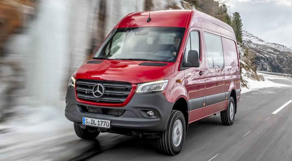 Круче, чем GLS: новый Mercedes-Benz Sprinter 4×4 добрался до России