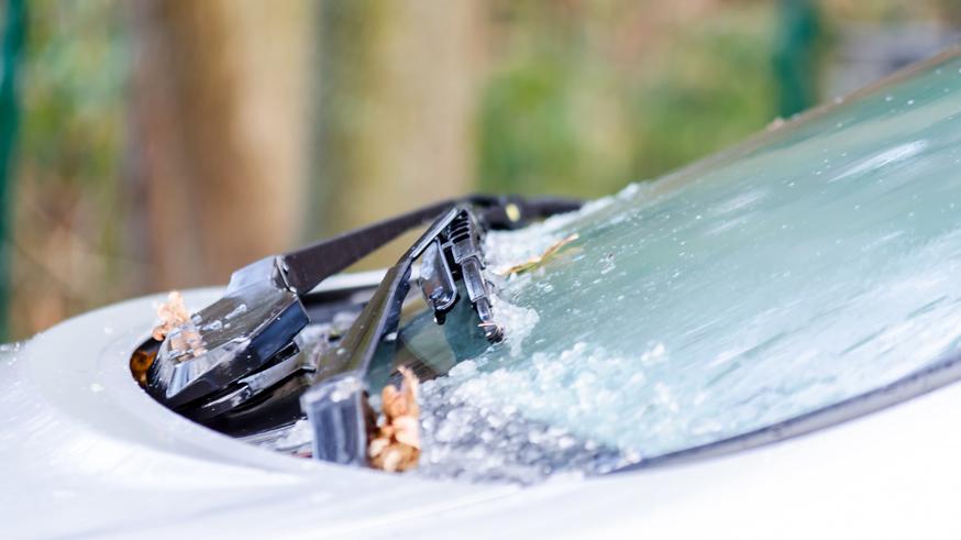 Icy Car Window