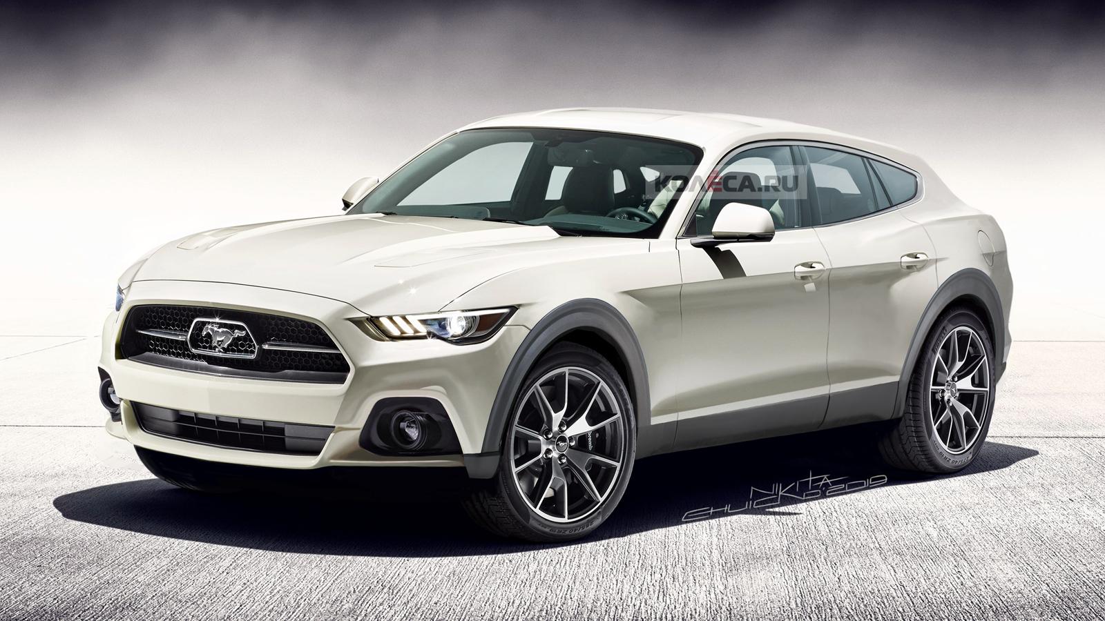 Вweb-сети представили рендеры кроссовера Форд Mustang