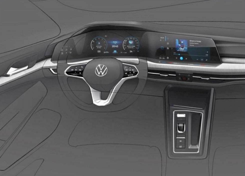 Разминаем пальцы: интерьер нового VW Golf готовит сенсорную революцию