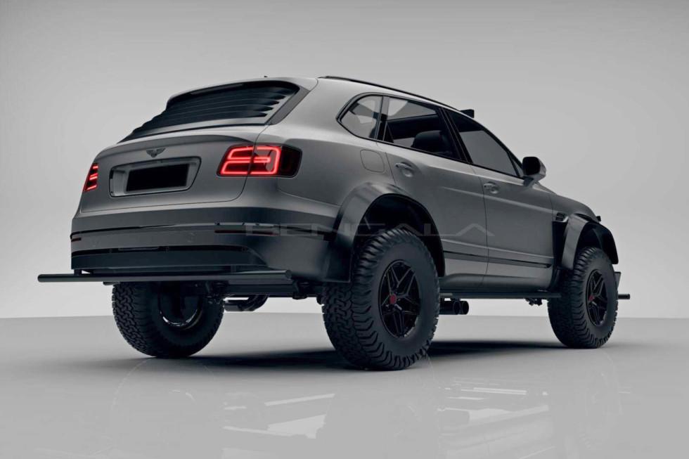 Селёдка с вареньем: кроссовер Bentley Bentayga подготовили к зомби-апокалипсису