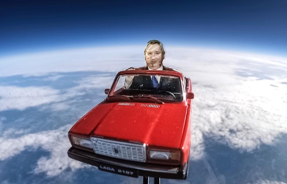 Рогозин на Жигулях полетел в космос. Как тебе такое, Илон Маск?