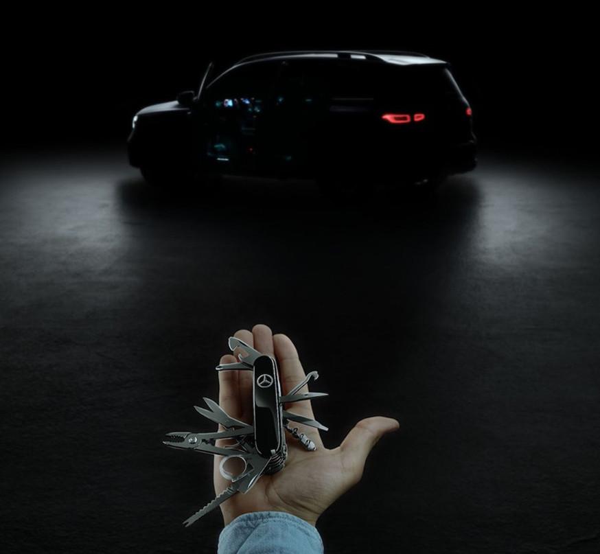 Mercedes-Benz опубликовал тизер GLB перед скорой премьерой