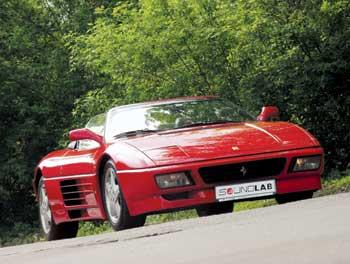 Ferrari 348 Spider c аудиосистемой от SoundLab