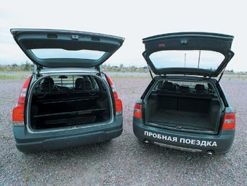 Audi Allroad quattro 2.5 TDI и Volvo XC70 2.5T AWD