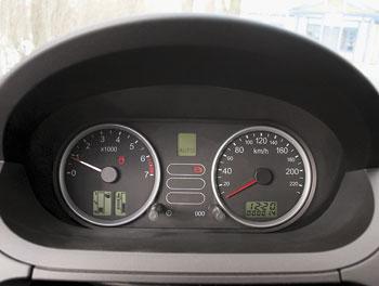 Указатели уровня топлива и температуры охлаждающей жидкости заменены дисплеями