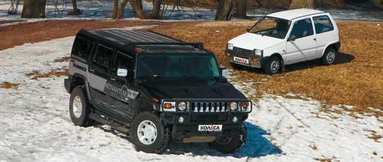 Hummer H2 vs.СеАЗ 11113 Ока