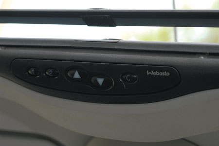 Интерфейс управления автоматизированным люком