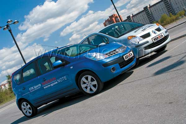Nissan Note vs. Renault Modus