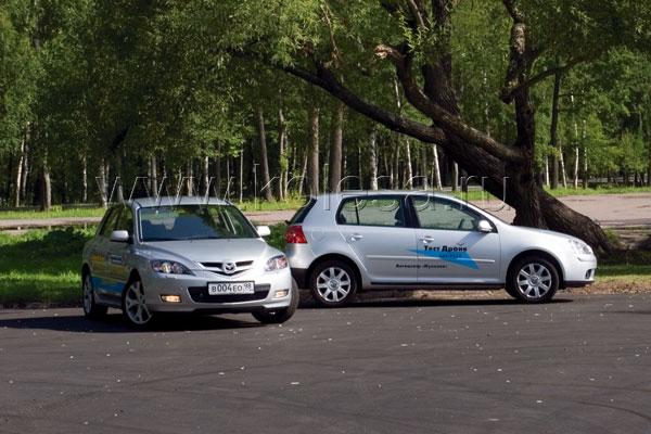 Mazda 3 против VW Golf V
