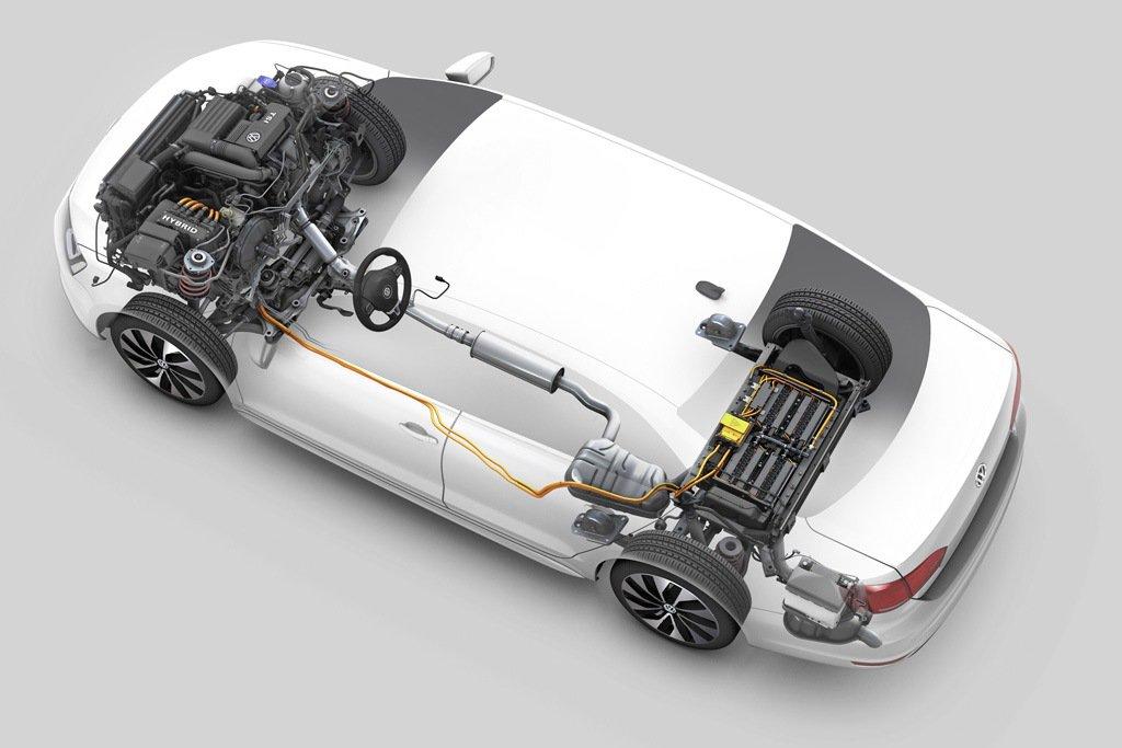 Volkswagen Jetta Hybrid: схема силовой установки