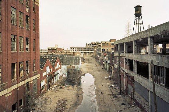 Одна из улиц современного Детройта