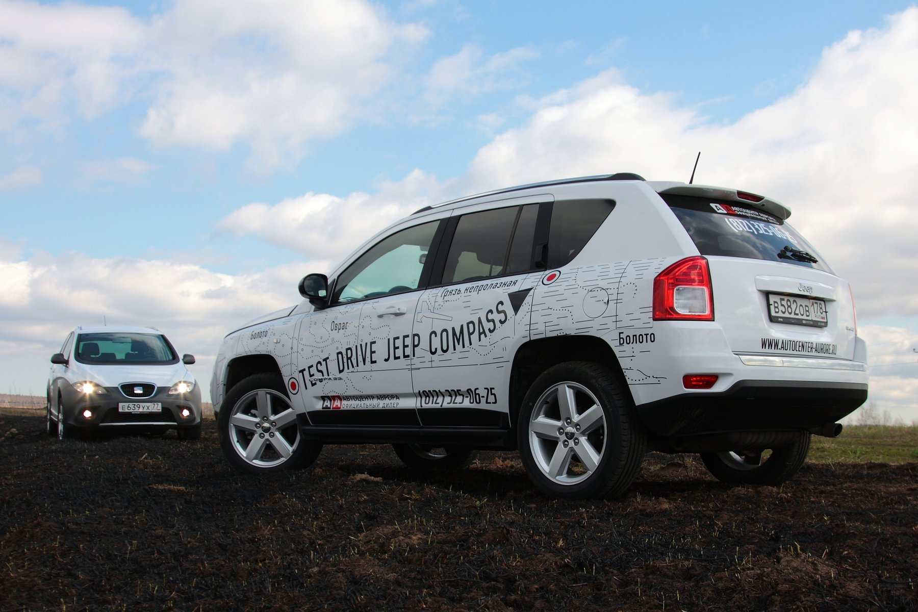 Jeep Compass и Seat Altea Freetrack