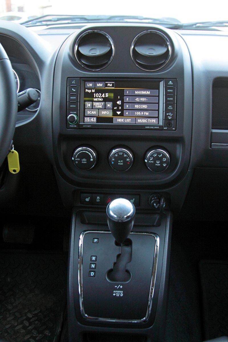 Центральная консоль Jeep Compass